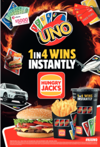 Uno Game Promotion Hungry Jack's Prizemoney